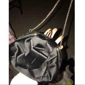 Christian Louboutin Black Cadeau Satin Bow Bag